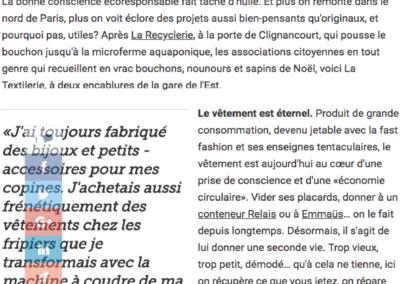 La Textilerie recycle les vêtements à Paris