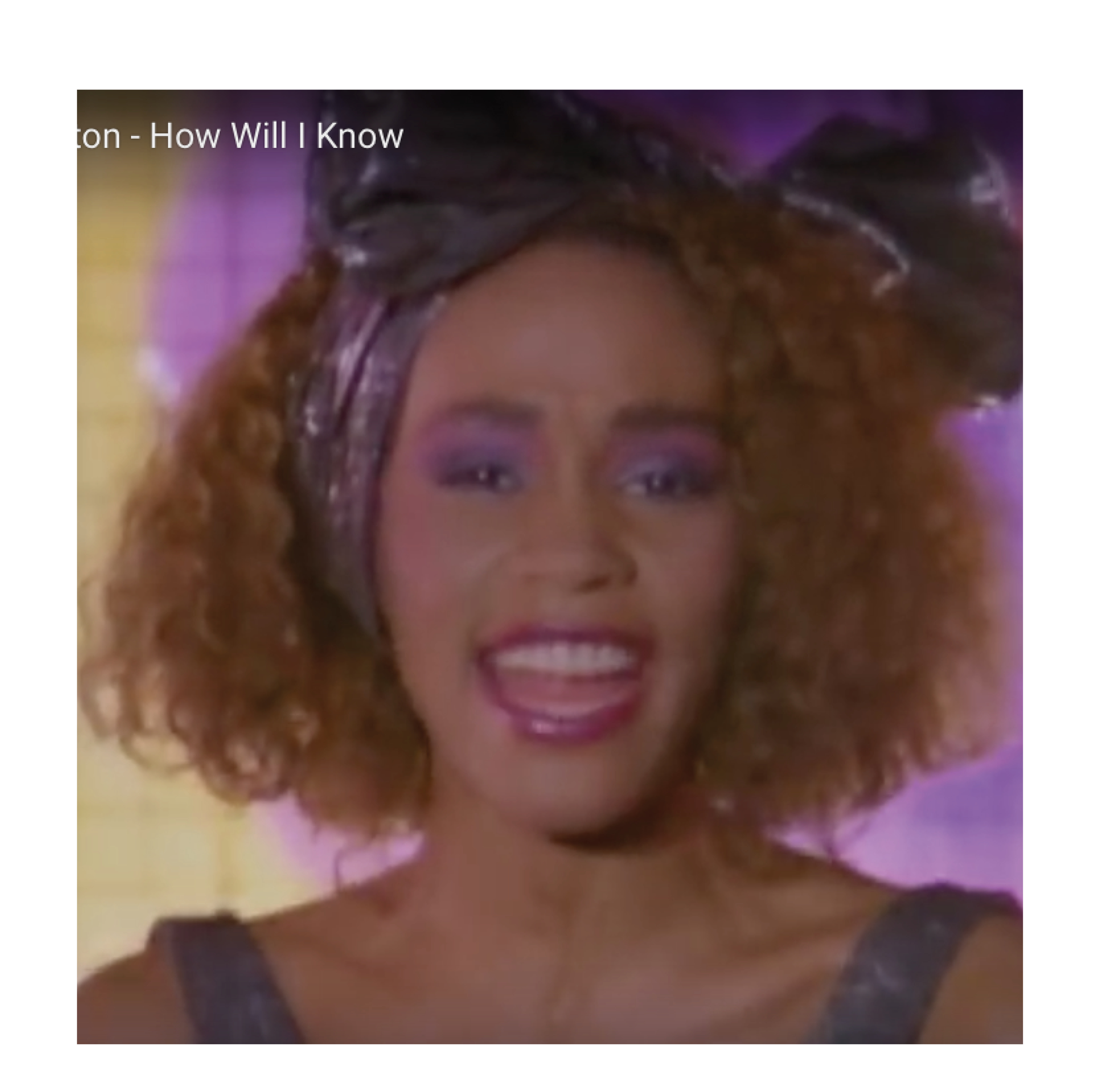 Whitney Houston dans le clip How will I know ?