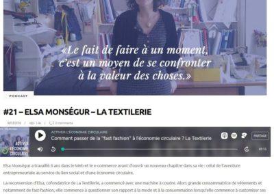 Podcast #21 – Elsa Monségur – La Textilerie